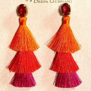NWT Deepa Gurnani Cha Cha Tassel Earrings